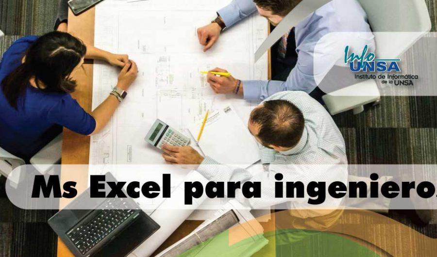 Ms. Excel para Ingenieros