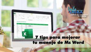 7 tips para mejorar tu manejo de Ms Excel