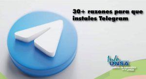 30+ razones para que instales Telegram